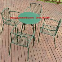 bàn ghế khung sắt đẹp