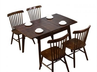 Bộ bàn ghế gỗ cao su  ngoài  trời