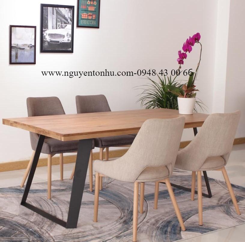 bàn ghế ăn gỗ cao su
