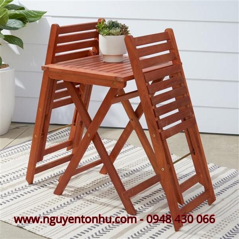 Bàn ghế gỗ ngoài trời giá rẻ tp hcm
