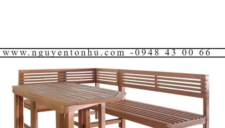bàn ghế gỗ phòng khách bình dân